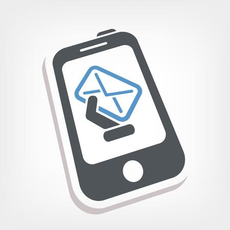 Smartphone e-mail icon Stock Vector - 20236457