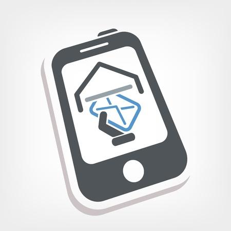 Smartphone e-mail icon Stock Vector - 20236458