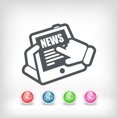 Web news icon Stock Vector - 20231169