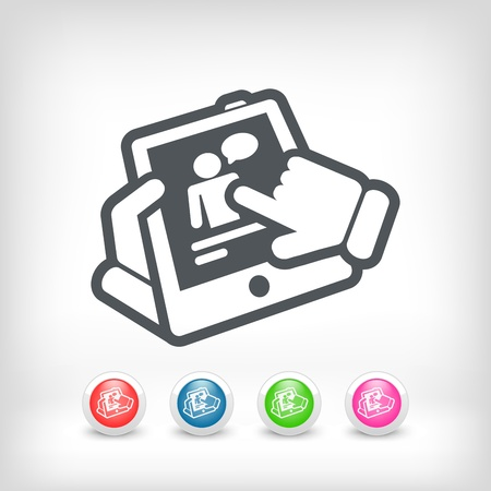 Chat touchscreen icon Stock Vector - 20236242