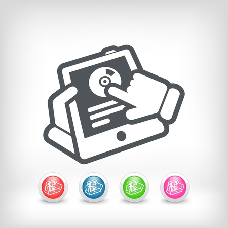 Tablet or smartphone music icon Stock Vector - 20236246
