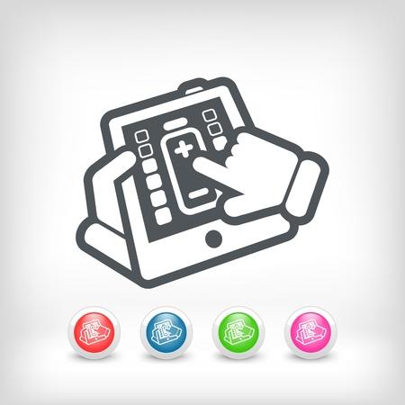Battery level touchscreen Vector