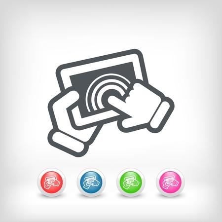 Touchscreen action icon Stock Vector - 20236239