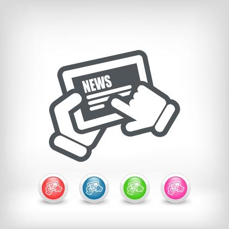 News touchscreen Stock Vector - 20236231