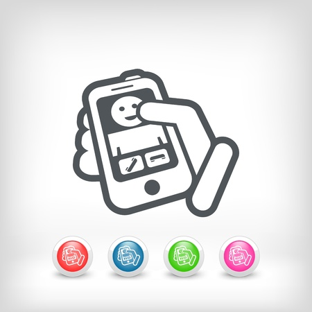 Incoming call icon Stock Vector - 20236237