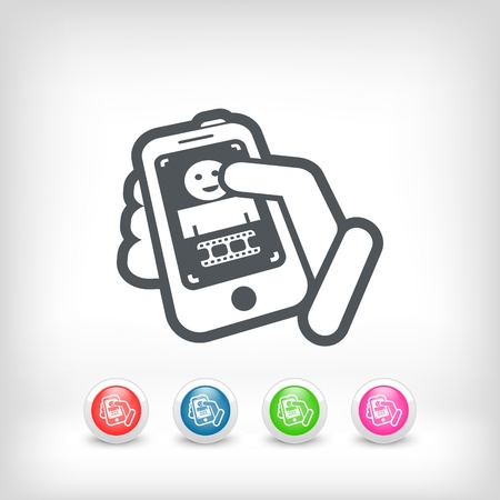 Video touchscreen icon Vector