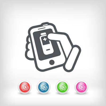 Battery level touchscreen Stock Vector - 20236375