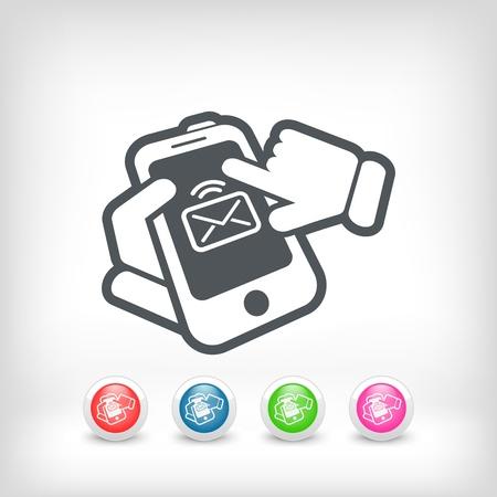 Smartphone e-mail icon Stock Vector - 20236230
