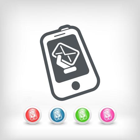 Smartphone e-mail icon Stock Vector - 20236250