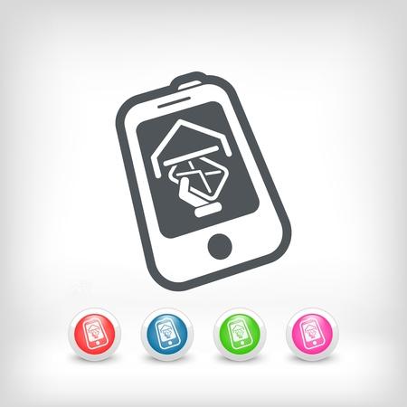 Smartphone e-mail icon Stock Vector - 20236234