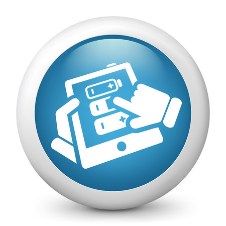 Tablet battery Stock Vector - 22738169