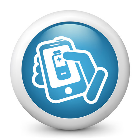 Phone battery level Stock Vector - 22745160
