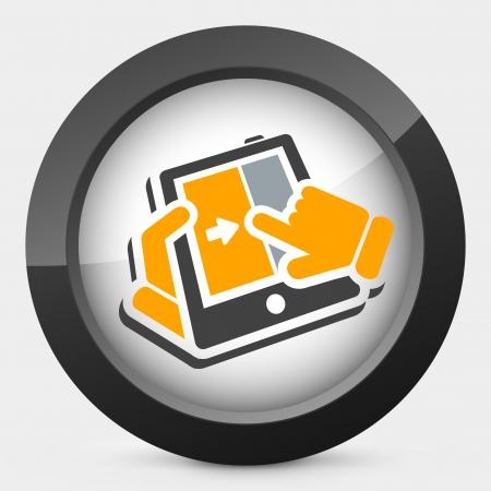 Slide touchscreen Illustration