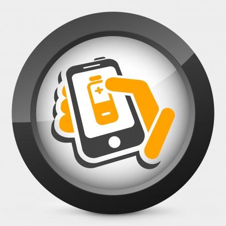 Phone battery level Stock Vector - 22745214