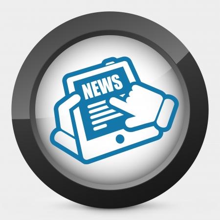 Tablet news Stock Vector - 22745233