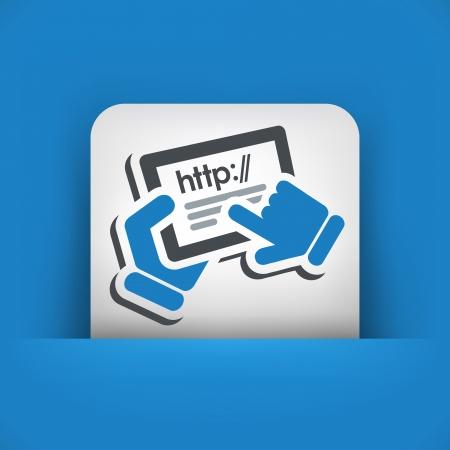 http: Http-Verbindung Tablette Illustration