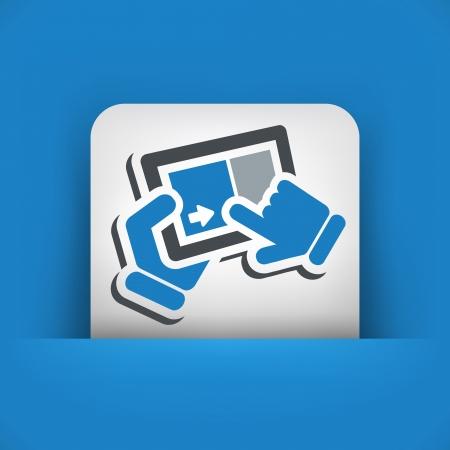 slide show: Slide touch screen