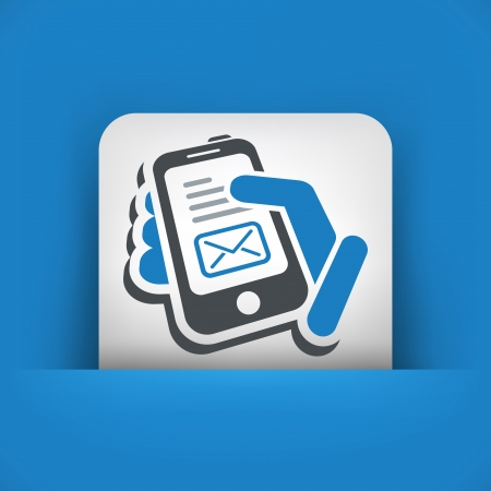 Phone message Vector