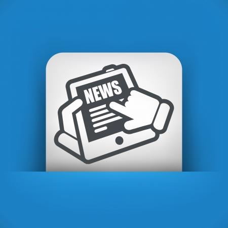 Tablet news Stock Vector - 22745341