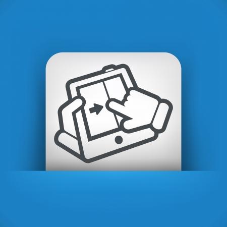 touchscreen: Slide touchscreen Illustration