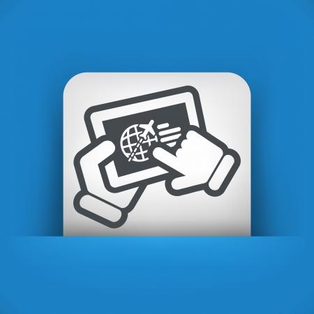 Airline website Vector