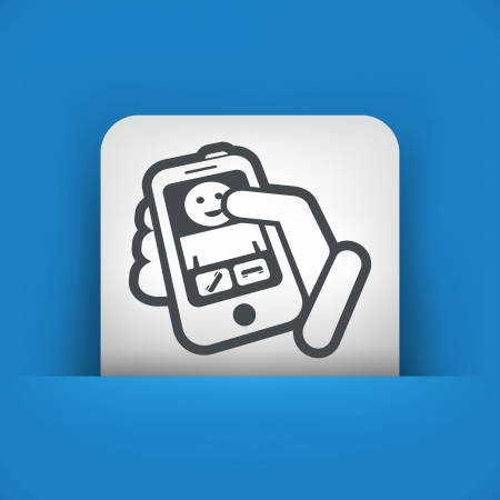 Incoming call phone Vector
