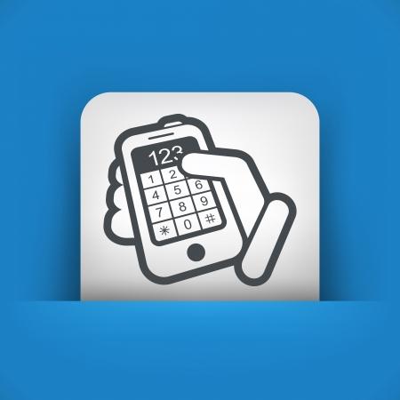 dialing: Phone keypad numbers