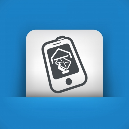 Phone message icon Vector