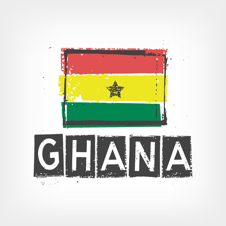 ghana: Ghana drapeau stylis�
