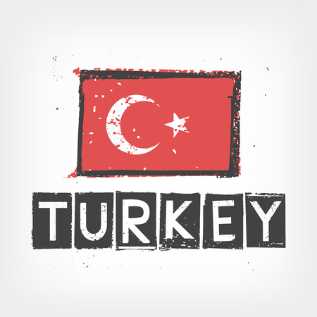 Turkey flag stylized Vector