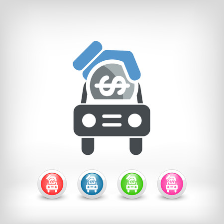 Car money icon Vector