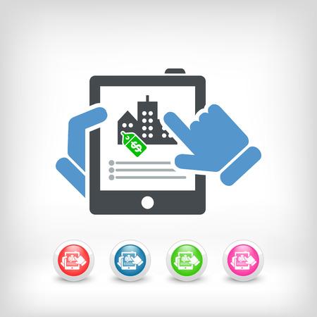 estate agent: Real estate icon Illustration