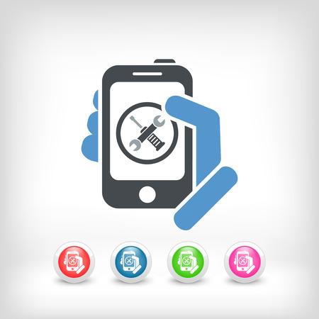 Smartphone setting icon Vectores