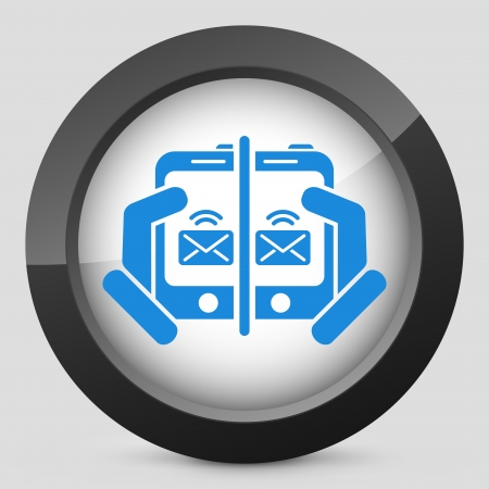 Web message icon Stock Vector - 22762972