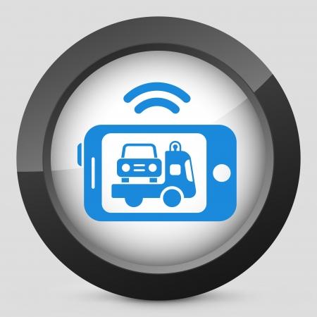 Assistance de voiture mobile Banque d'images - 22762975