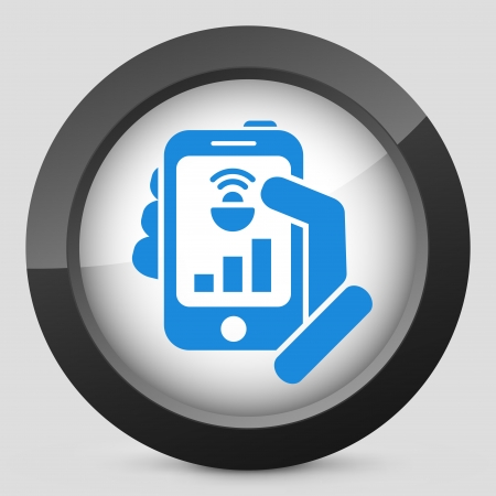 browsing: Smartphone connection icon Illustration