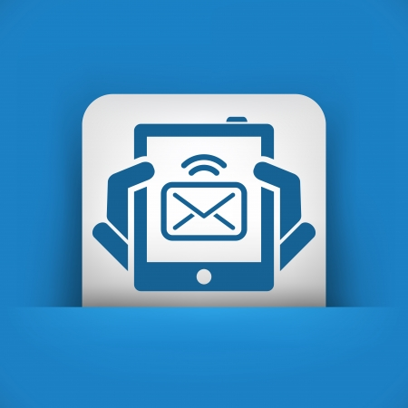 Tablet message icon Vector