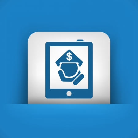 Tablet store icon Vector
