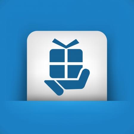 handing: Handing a gift