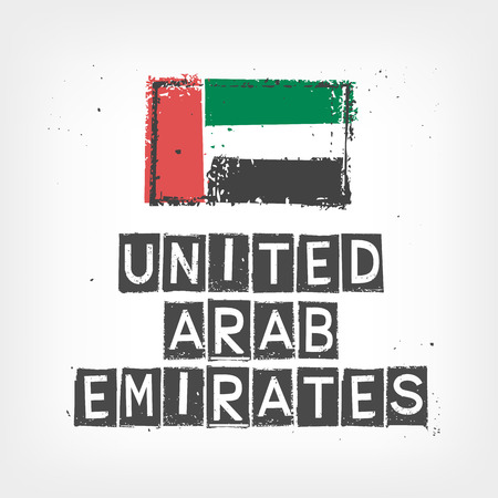 United Arab Emirates flag stylized
