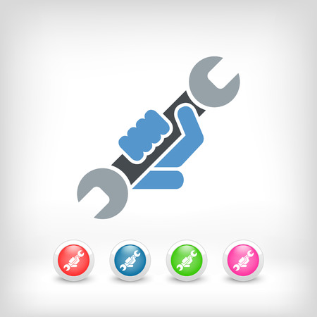 wrench: Wrench symbol icon