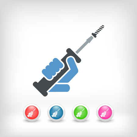 screwing: Screwdriver icon Illustration