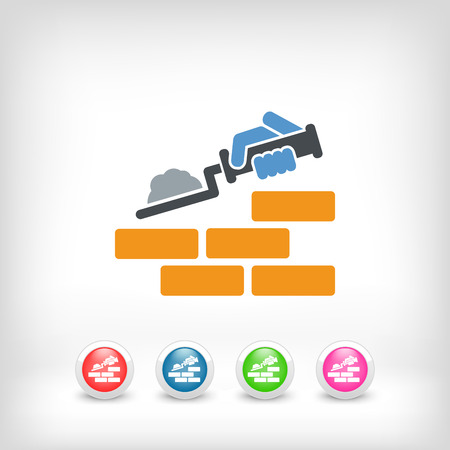 construction work: Building icon Illustration