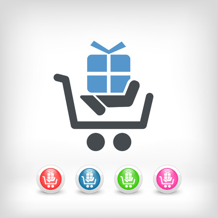 Cart store icon Stock Vector - 22784247