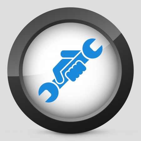 Wrench symbol icon Vector