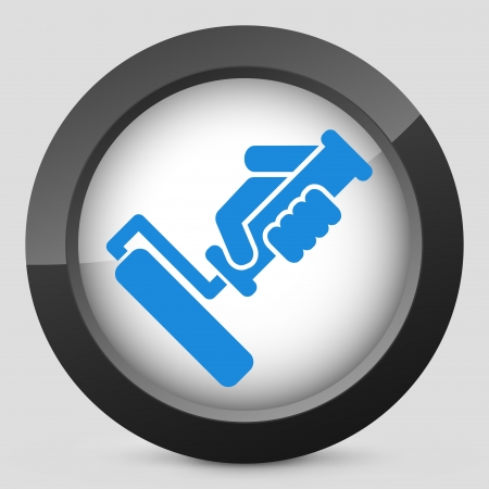 solvent: Painter roll icon