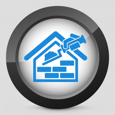 plastering: Building icon Illustration