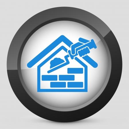 Building icon Stock Illustratie