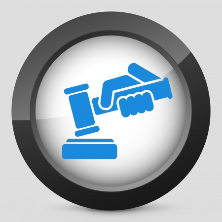 Hammer judge icon Stock Vector - 22785255