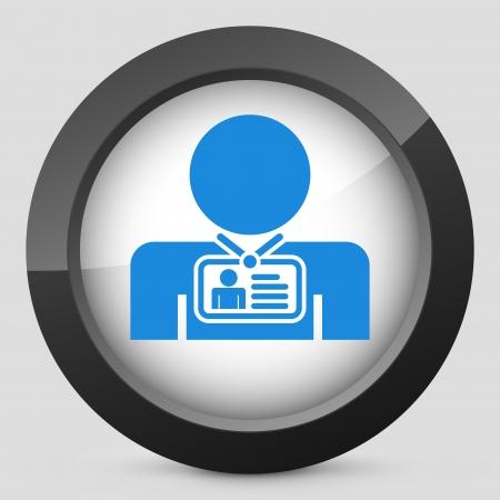 accreditation: Staff card identity Illustration